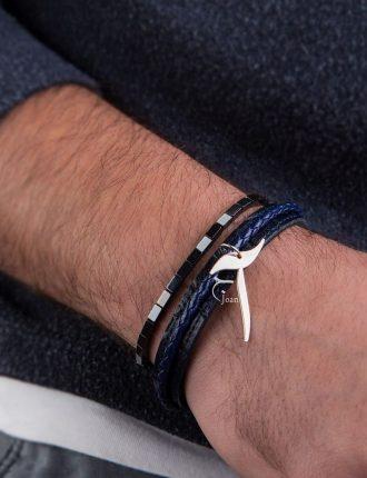 دستبند مردانه حرف آ