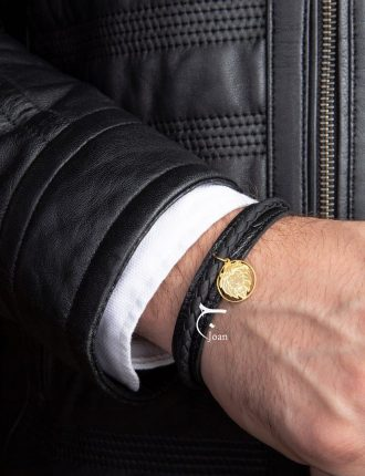 دستبند مردانه طرح شیر